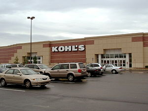 The exterior of a typical Kohl's department st...