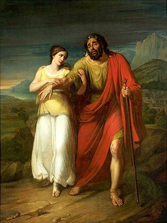 Antigone - Image: Kokular Oedipus and Antigone