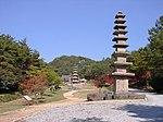 Stone Buddhas and pagodas of the Hwasun Unjusa Temple