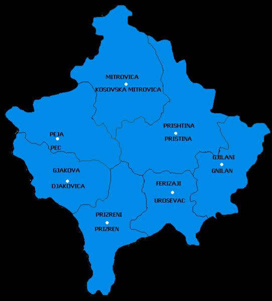 karta kosova File:KosovoCities.png   Wikipedia karta kosova