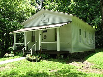 National Register of Historic Places listings in Doddridge County, West Virginia - Image: Krenn School, St. Clara, WV