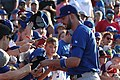 Kris Bryant signing autographs during his rehab assignment against Omaha (44315167611).jpg