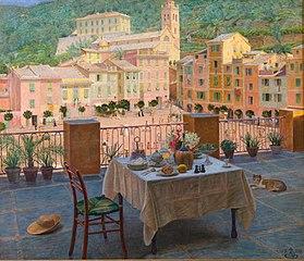 Mit frokostbord i Portofino