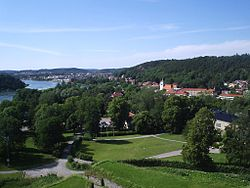 Kungälv aus Bohus fästning im Juli 2006
