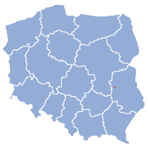 Location of Końskowola