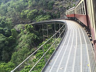 Kuranda Scenic Railway - Kuranda Scenic Railway on top of a bridge
