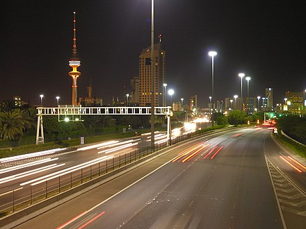 A highway in Kuwait City Kuwait highway.jpg