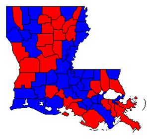 United States Senate election in Louisiana, 2002 - Image: LA Sen 02Counties