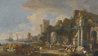 Capriccio View of a Mediterranean Port