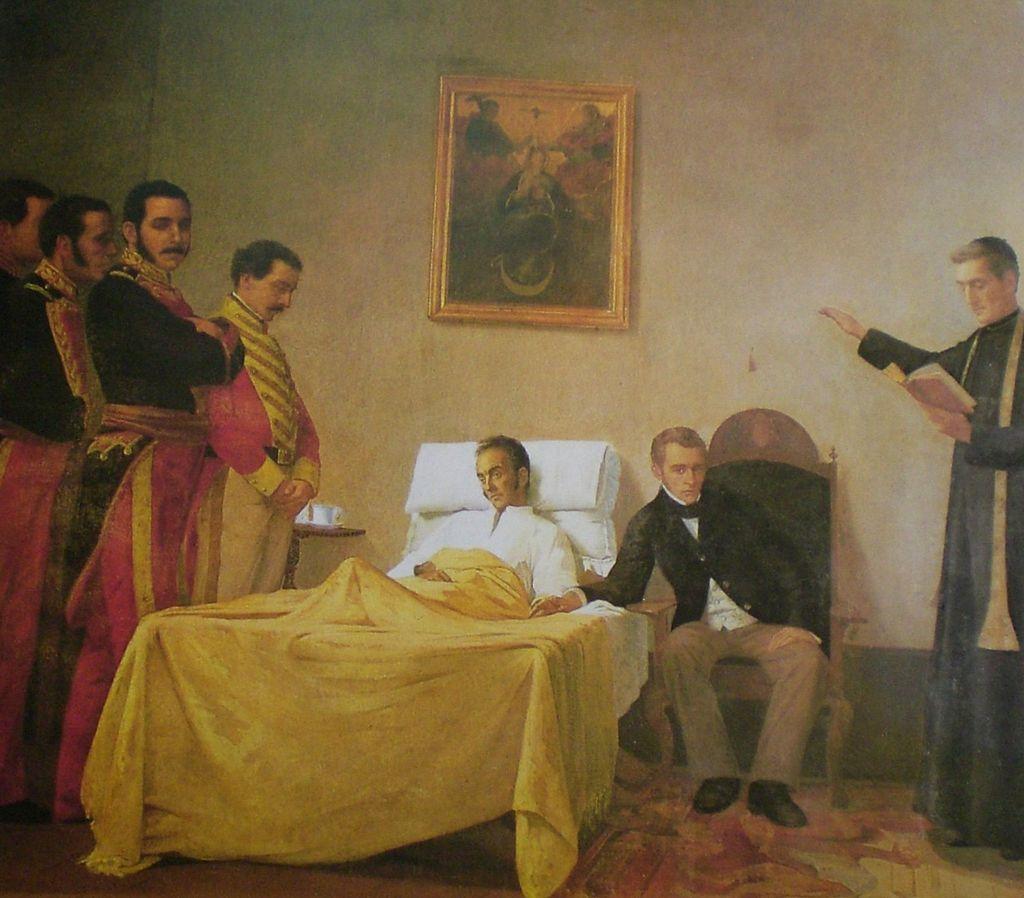 مرگ بولیوار توسط هنرمند ونزوئلا Antonio Herrera Toro