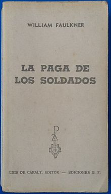 La Paga de los Soldados William Faulkner.JPG