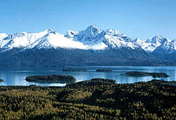 Lake Clark National Park - Lake Clark og Chigmit Mountains