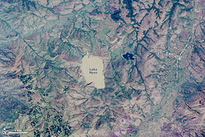 Lake Nyos - Lake and vicinity from Landsat 8, 2014