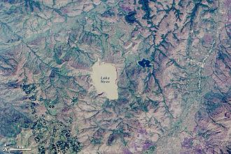Lake Nyos - Lake and vicinity from Landsat 8, 2014