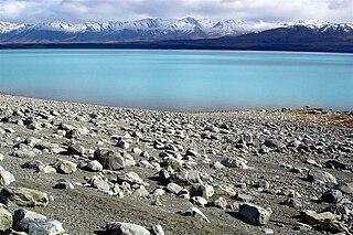 Lake Pukaki Lake in Canterbury Region, New Zealand