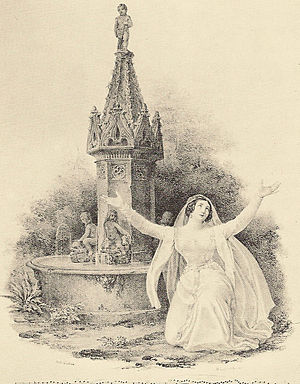 La straniera - Henriette Meric-Lalande as Alaide in the original 1829 production