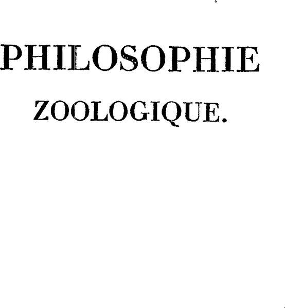 File:Lamarck - Philosophie zoologique 1.djvu