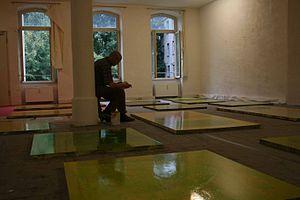 Antón Lamazares - Antón Lamazares in his studio