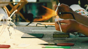 Lampworking - Demonstration of the lampworking process