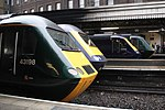 Last day of GWR HSTs - all together at Paddington 43198, 43009, 43162 and 43188 (2).JPG
