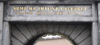 "Proverb - Latin proverb overdoorway in Netherlands: ""No one attacks me with impunity"""