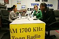 Laura Bush radio interview Amber Bellamy Elliott White 20061004.jpg