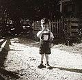 Leather pants, portrait, kid Fortepan 83979.jpg