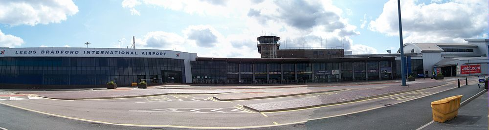 The current front to the terminal buildings. The space in this arc will be filled under expansion plans.