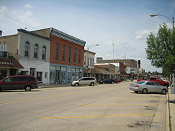 Buildings in downtown Lena