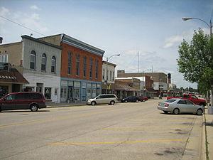 Lena, Illinois - Buildings in downtown Lena