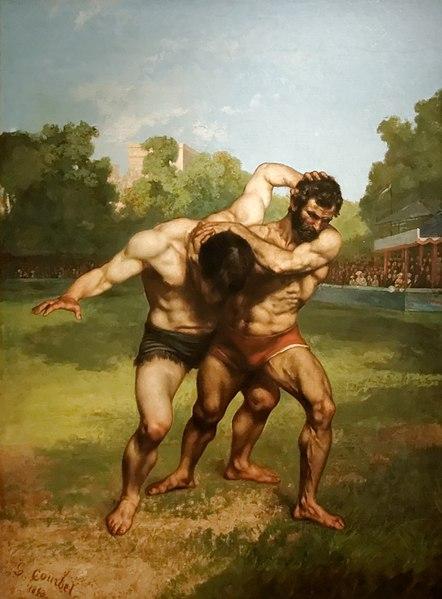 Fichier:Les lutteurs Gustave Courbet.jpg