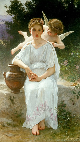 Première rêverie - Image: Les murmures de l'Amour, William Adolphe Bouguereau