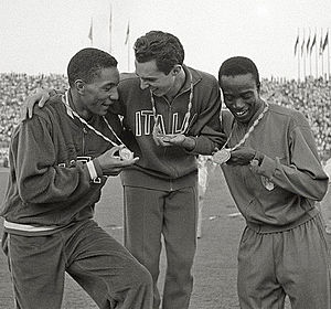 Lester Carney - Lester Carney (left) at the 1960 Olympics