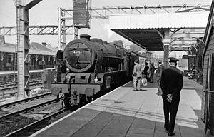 Lichfield Trent Valley railway station - Lichfield Trent Valley (Low Level) in 1962