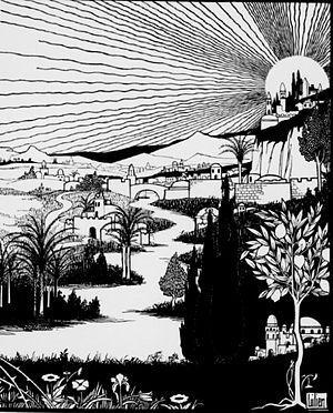 Zion - Ephraim Moses Lilien, Zion, 1903.