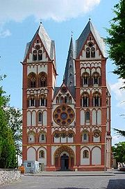 Limburger Dom, Germany, has recently had its polychrome plaster restored.