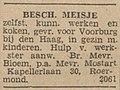 Limburger Koerier vol 095 no 299 advertisement Besch. meisje.jpg