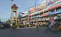Lion's clock tower at junction of Sevoke and Bidhan roads, Siliguri.jpg