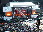 The stage at the Live Earth concert held at Wembley on 7 July 2007.