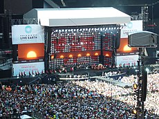 The London leg of Live Earth was held in Wembley Stadium