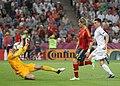 Lloris Torres and Koscielny Spain-France Euro 2012.jpg