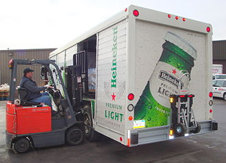 Heineken Premium Light - A truck advertising Heineken Light