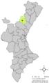 Localització d'Aranyuel respecte del País Valencià.png