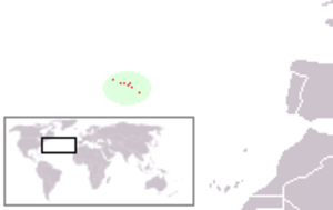 Portugal during World War II - Location of the Portuguese Azores Islands