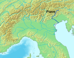 Map of the Piave river