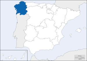 Galicia (Spain) - Location of Galicia