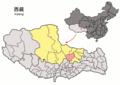 Location of Nagchu within Xizang (China).png