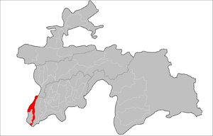 Location of Shahrtuz District in Tajikistan.png