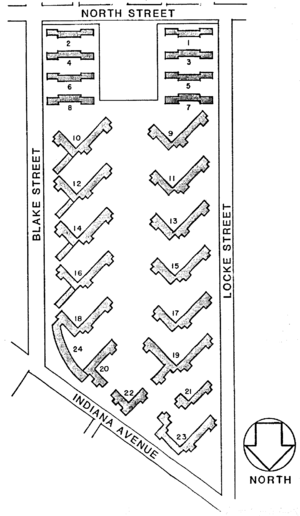 Site plan - Image: Lockefield Gardens site plan