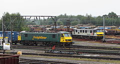 Locomotives at Basford Hall Yard, Crewe (geograph 4085955).jpg